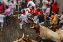 وبلغ وزن الثيران التي شاركت في المهرجان ما بين 550 و 650 كغ