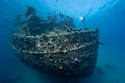 حطام السفينة الغارقةتيتانيك السعودية تحت الماء