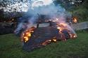 صور من أضرار البركان
