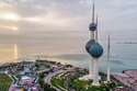 أبراج الكويت عند غروب الشمس