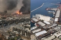 الميناء قبل وبعد الانفجار