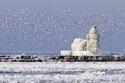 منارة West Pierhead، كليفلاند هاربور ، أوهايو ، الولايات المتحدة