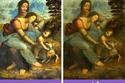 تخفيف الألوان غير مغزى اللوحة