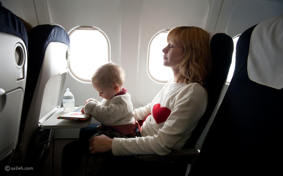 نصائح السفر بالطائرة مع الرضع