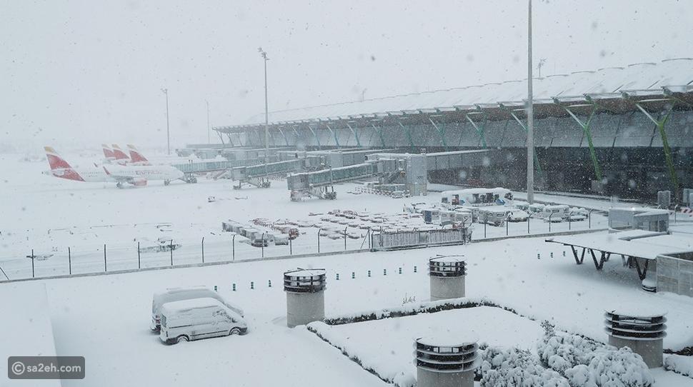 العاصفة فيلومينا تجمد مطار مدريد