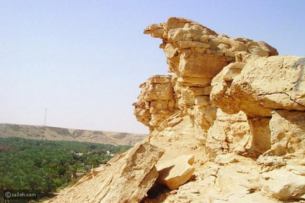 جانب من جبل التوباد في محافظة الأفلاج السعودية