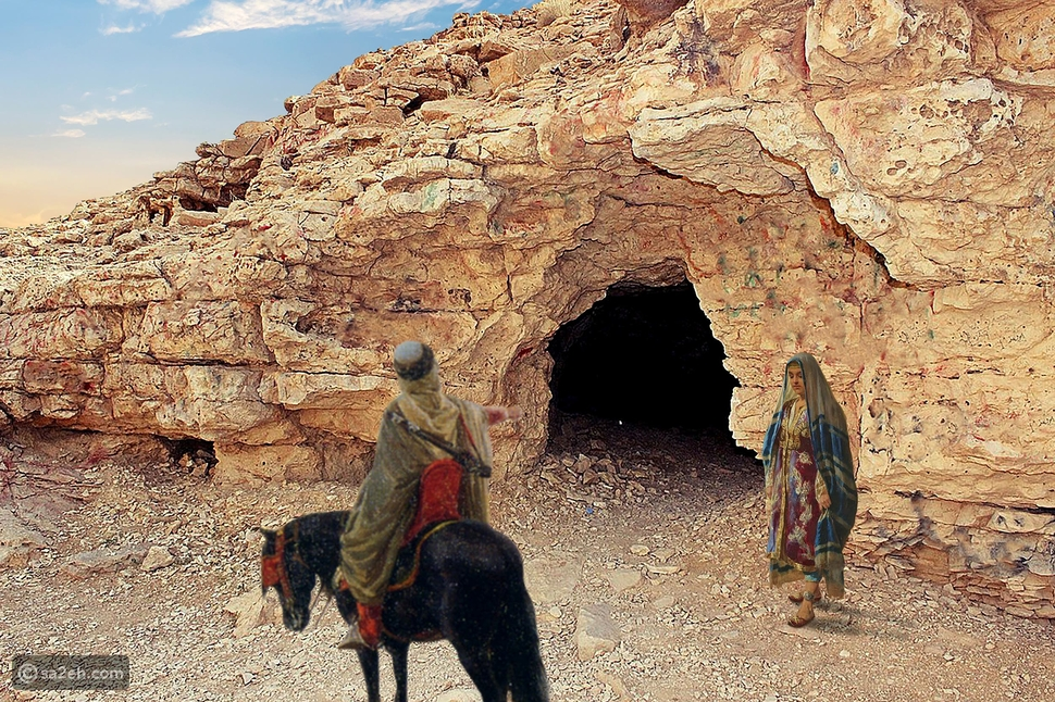 """غار """"قيس وليلى"""" في جبل التوباد"""
