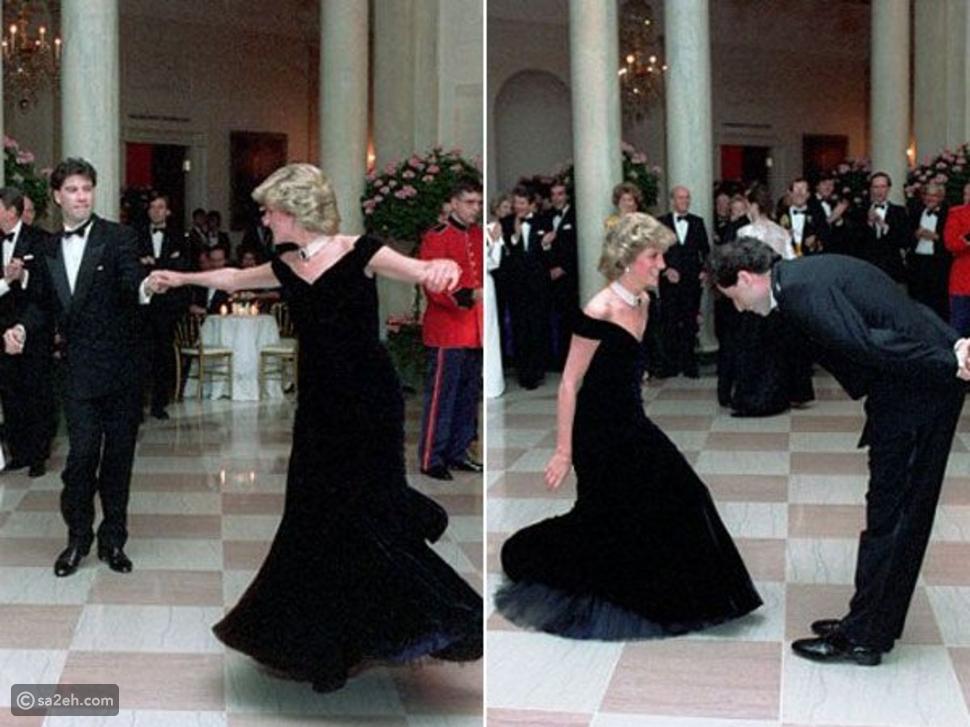 رقصت به مع جون ترافولتا: فستان شهير للأميرة ديانا للبيع في مزاد