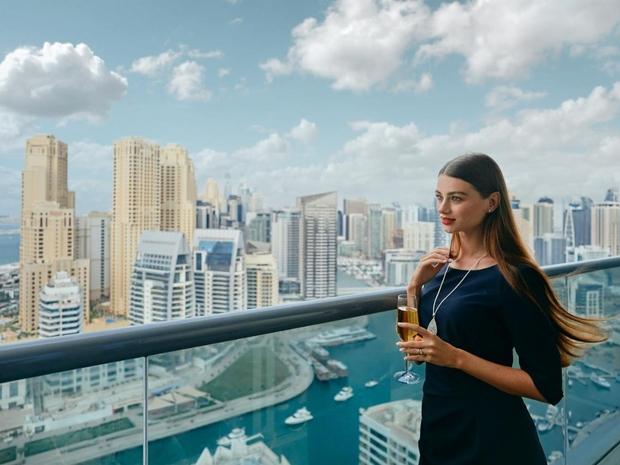إطلالة رائعة على أفق دبي