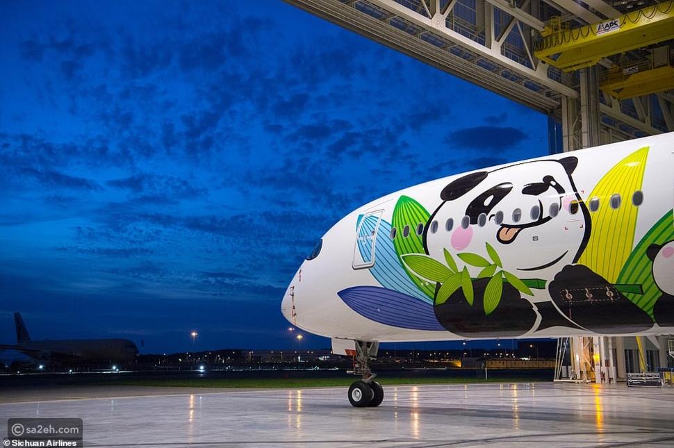 """الخطوط الجوية الصينية تطلق """"مسار PANDA"""" بطائرة مستوحاة من الباندا✈"""
