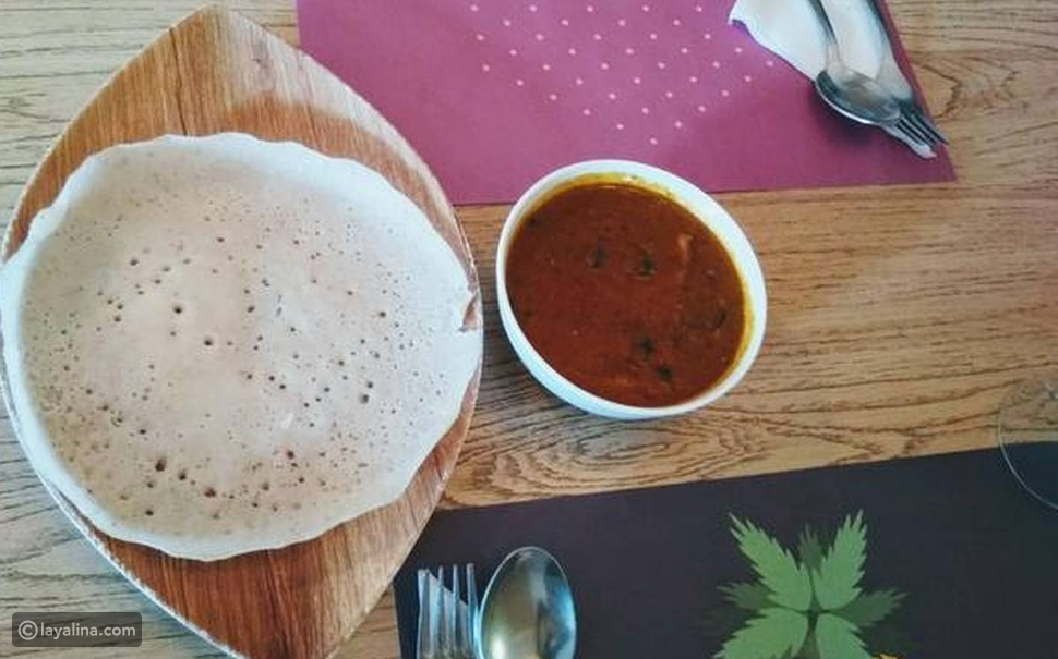 خبز أبام من سريلانكا