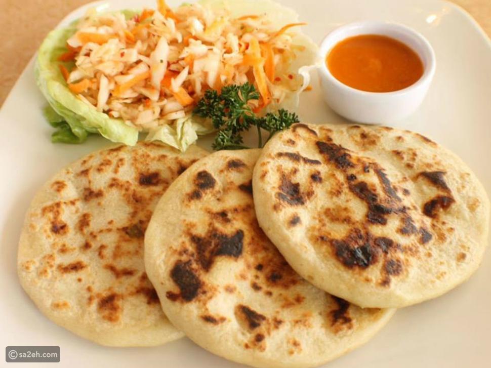 خبز بوبوساس من السيلفادور