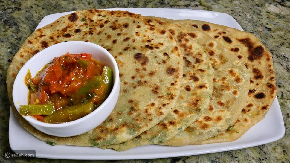 خبز باراثا من الهند