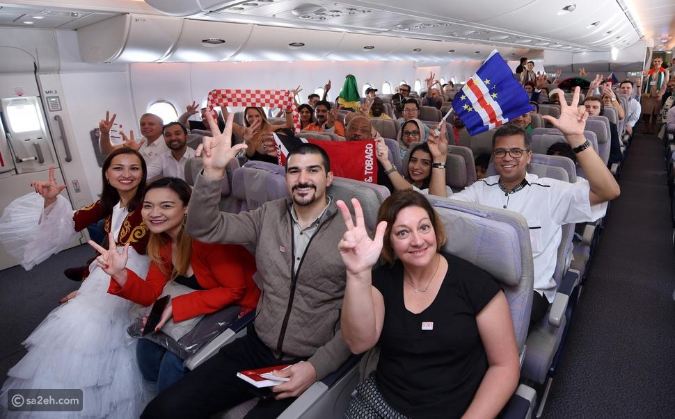 145 جنسية وخليط من ثقافات العالم على رحلة طيران الإمارات التاريخية