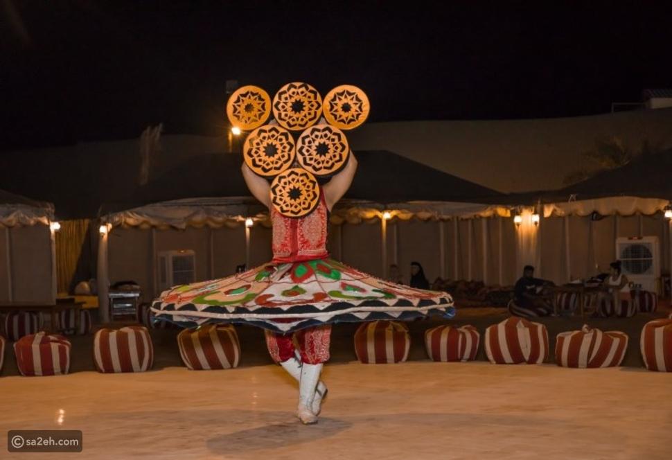 خيمة على الطابع التراثي الإماراتي الأصيل