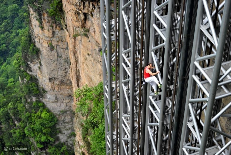 أخطر مصعد في العالم: تجربة صينية للمغامرين فقط