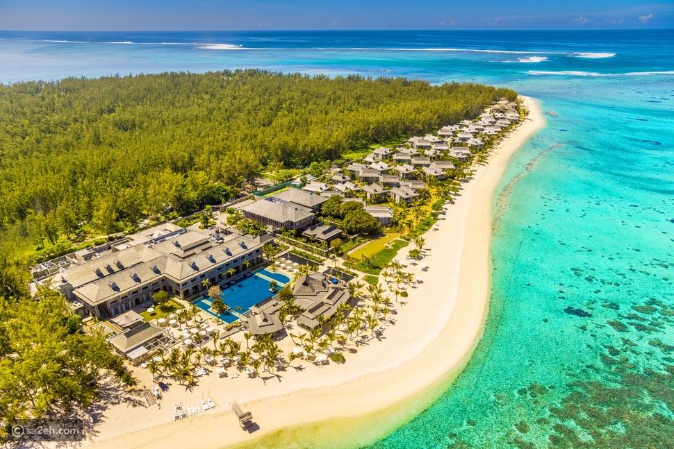 Aerial view of Le Morne Peninsula, Mauritius