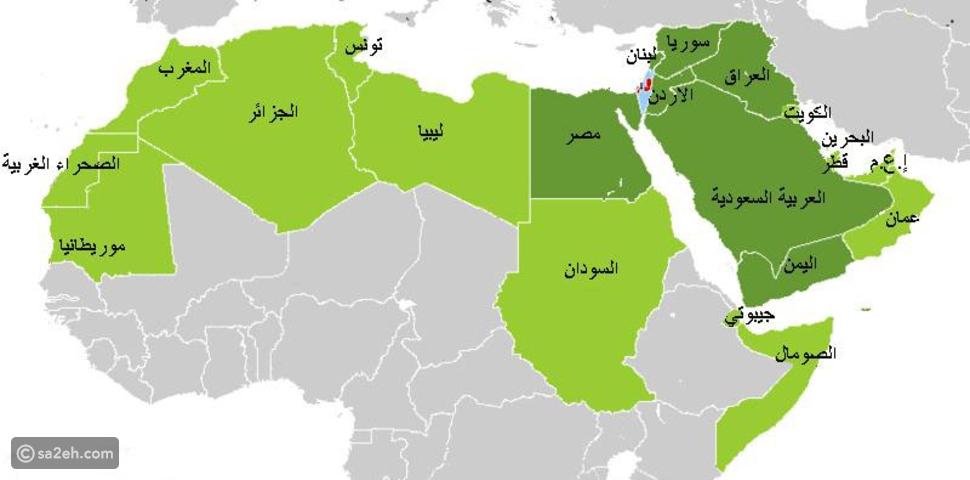 خريطة دول الشرق الأوسط: