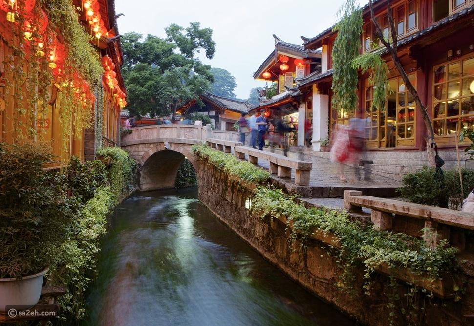 شوارع المدينة القديمة ليبجيانغ الصين