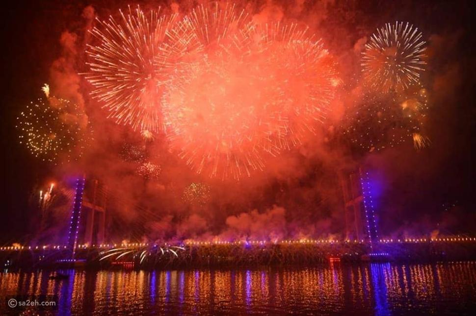 أعرض جسر معلق في العالم خلال رأس السنة