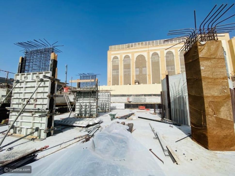 صورة من موقع إنشاء المعبد الهندوسي في دبي على أرض الواقع