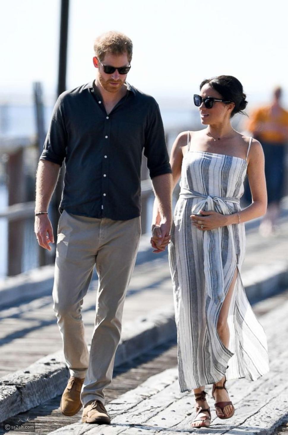 الأمير هاري وزوجته ميغان ماركل الحامل في الشهر السابع