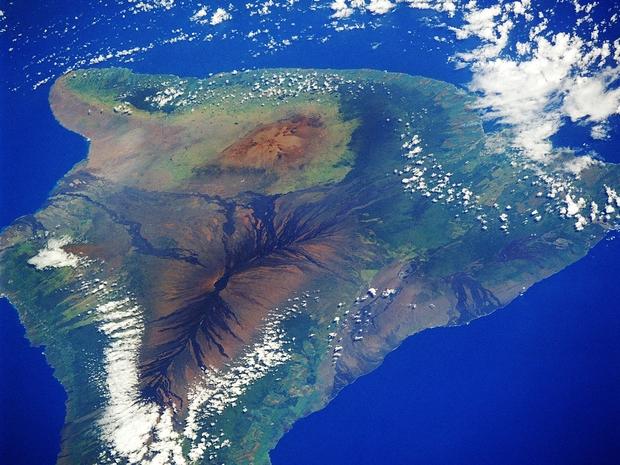 صورة فضائية لإحدى جزر هاواي