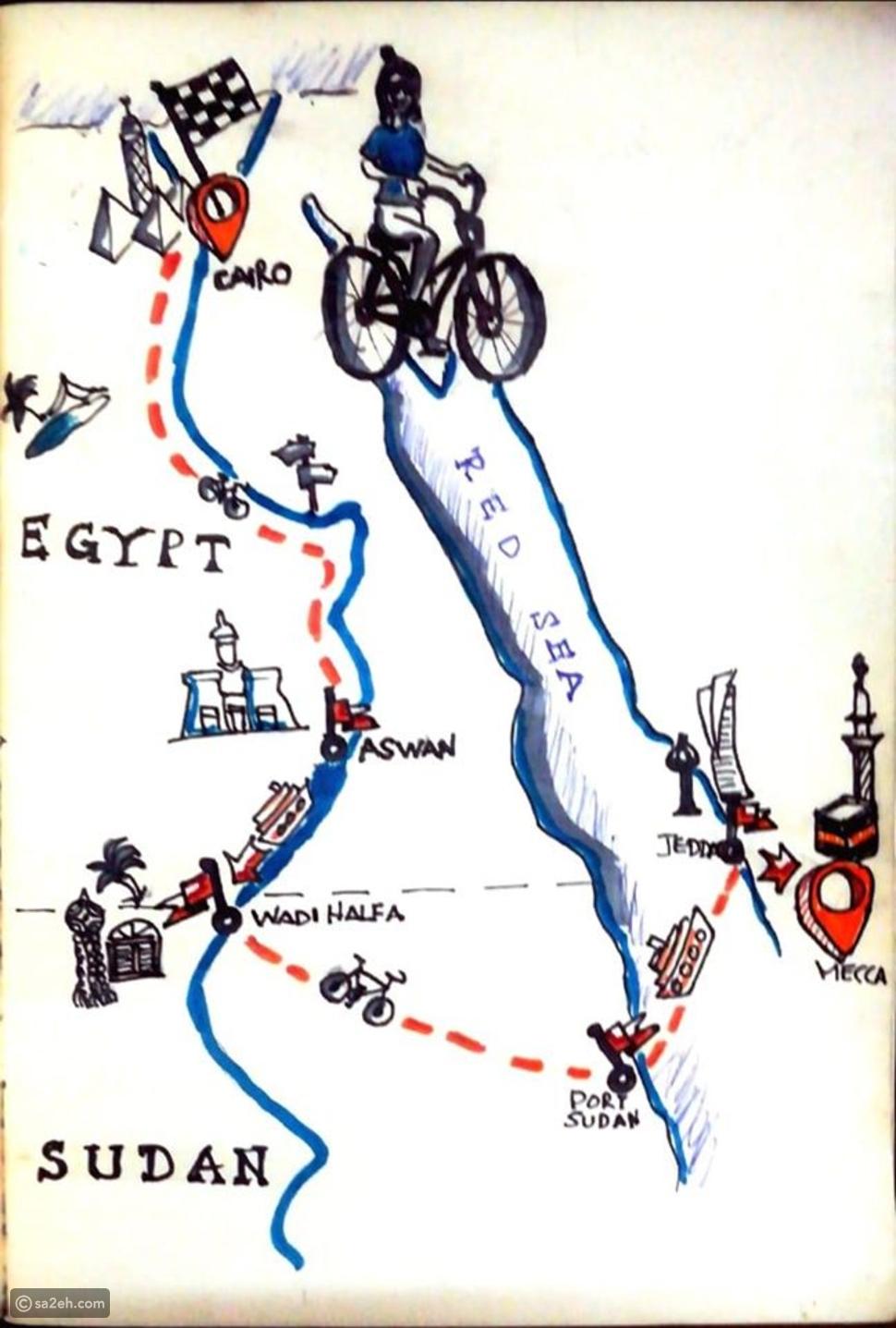 مغامرة تونسية تسافر من مصر إلى مكة على متن دراجة: لا شيء مستحيل