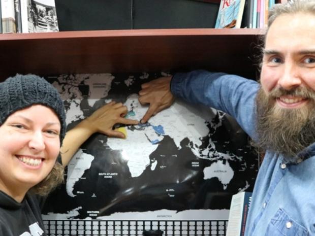 نجح الزوجان الألمانيان، أوفي وميكا نيغال، في السفر إلى سبعة دول