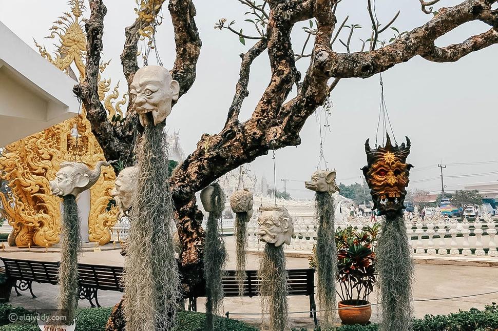 وات رونغ كون أو المعبد الأبيض في تايلاند