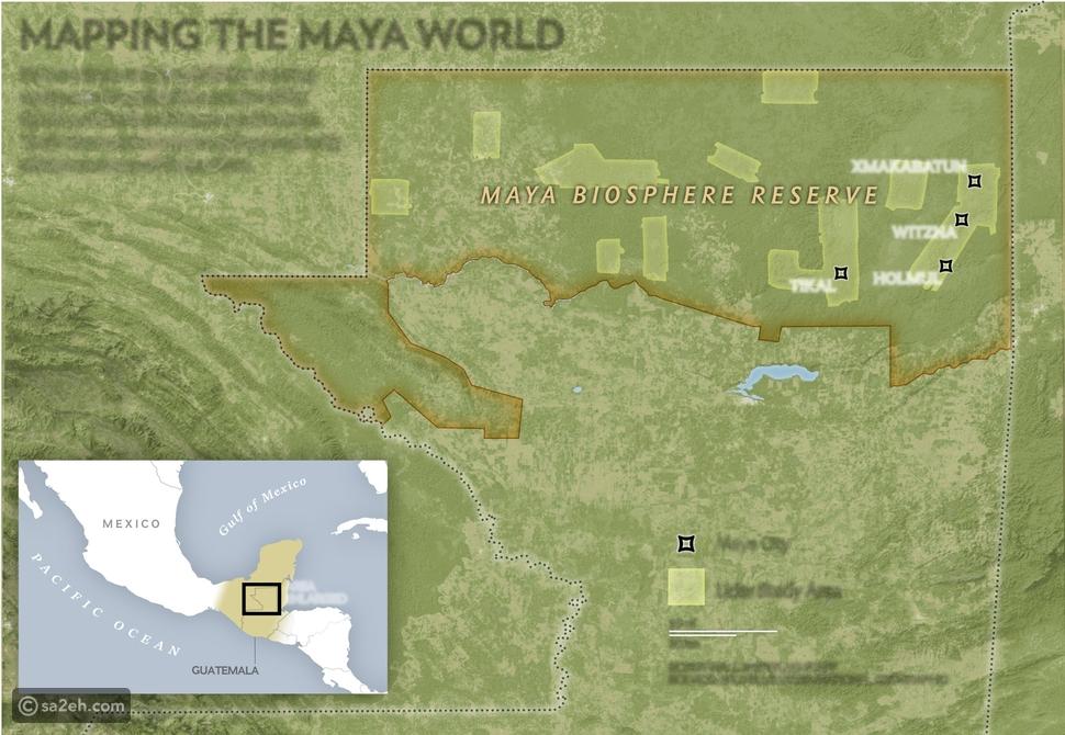 """اكتشاف مدينة عملاقة لحضارة """"المايا"""" مخفية تحت مظلة غابات!"""