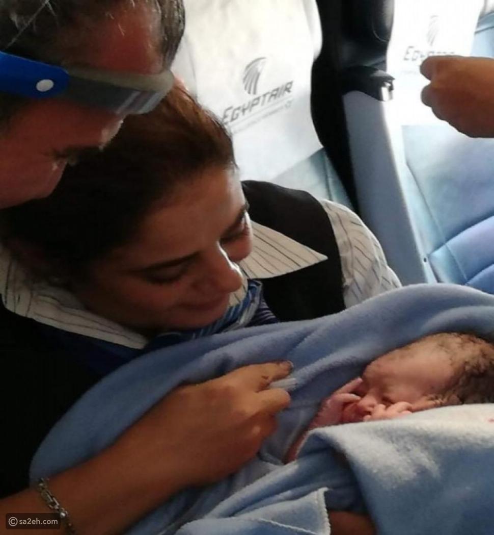 سيدة يمنية تضع مولودتها على متن طائرة لمصر للطيران