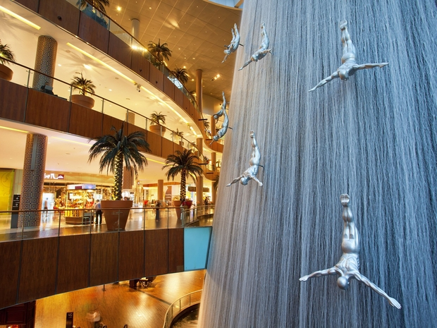 شاهد نوافير مول دبي المذهلة