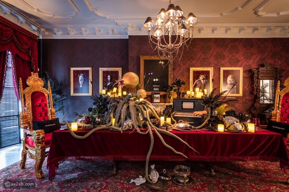 صور: مستوحى من الفيلم.. قصر أمريكي يضمك إلى عائلة آدمز