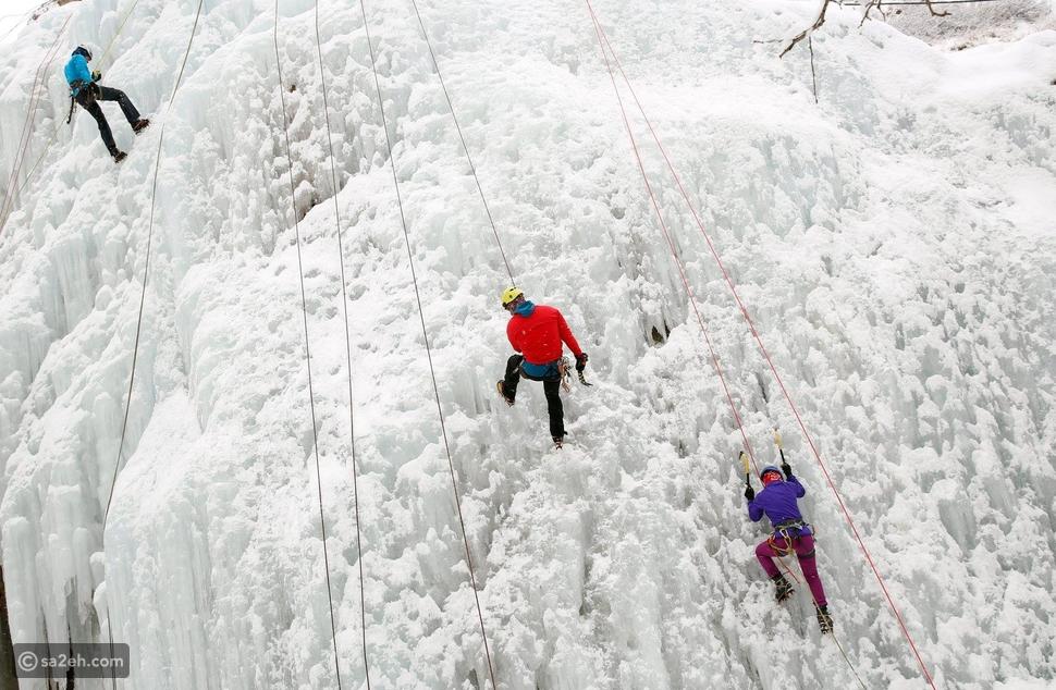 تسلق الجبال الثلجية في إيران!