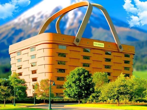 مبنى بالكامل على شكل سلة طعام