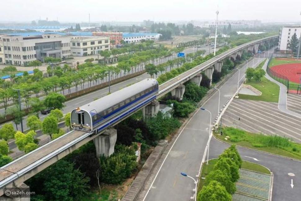 بمميزات الطائرة: شاهد قطار الصين فائق السرعة