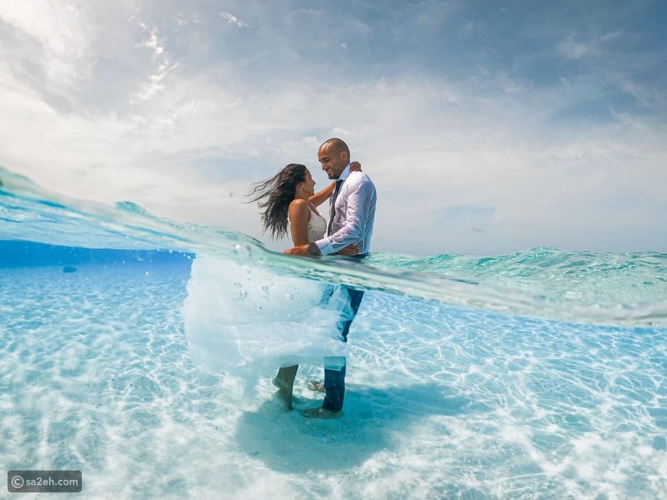 بالصور والفيديو زوجان سعوديان يحتفلان تحت الماء بطريقة مذهلة