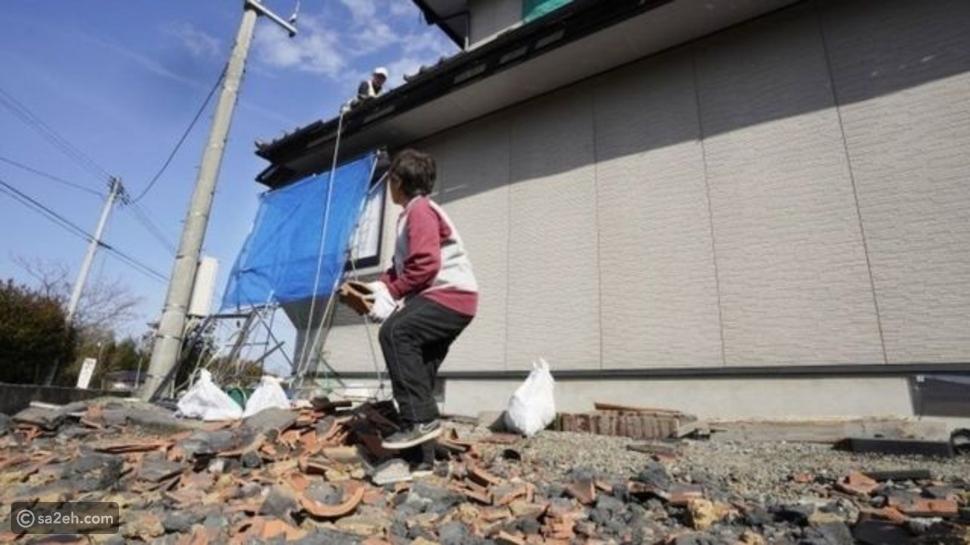 جانب من آثار زلزال فوكوشيما شمال اليابان