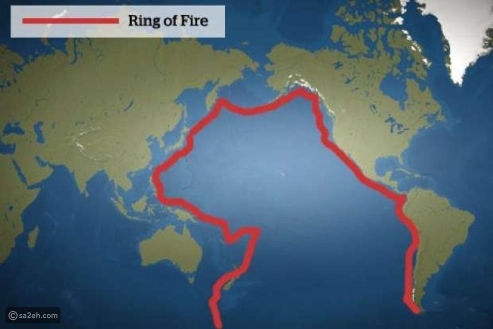 منطقة حزام النار في المحيط الهادئ