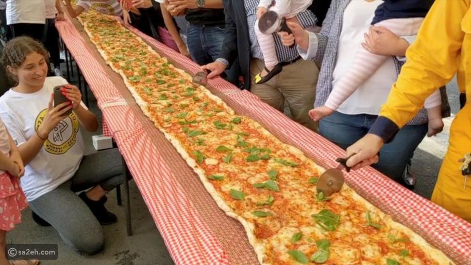 بطول 103 أمتار: مطعم إيطالي يدعم حرائق استراليا ببيتزا عملاقة