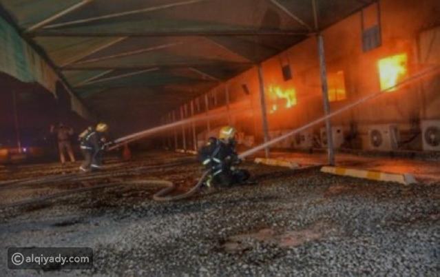 شاهد: اندلاع حريق بمحطة قطار الحرمين في جدة