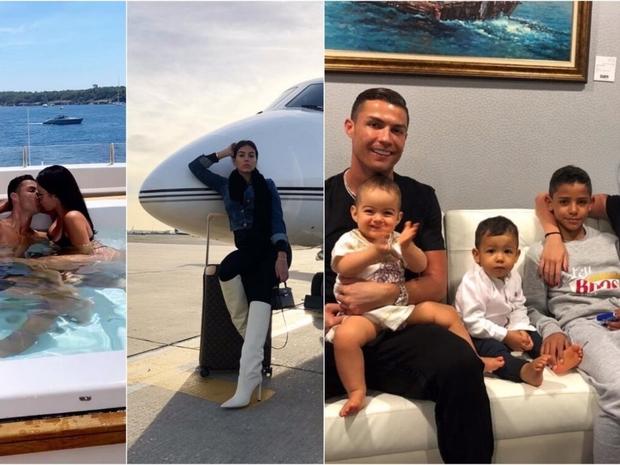 كريستانو رونالدو مع أبناءه