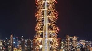دبي تبهر العالم بعرض ضخم للألعاب النارية من برج خليفة احتفالاً بـ2020