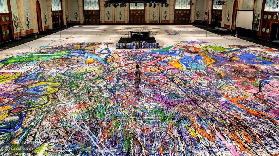 قصة أكبر لوحة فنية في العالم: رقم قياسي جديد لصالح الأطفال