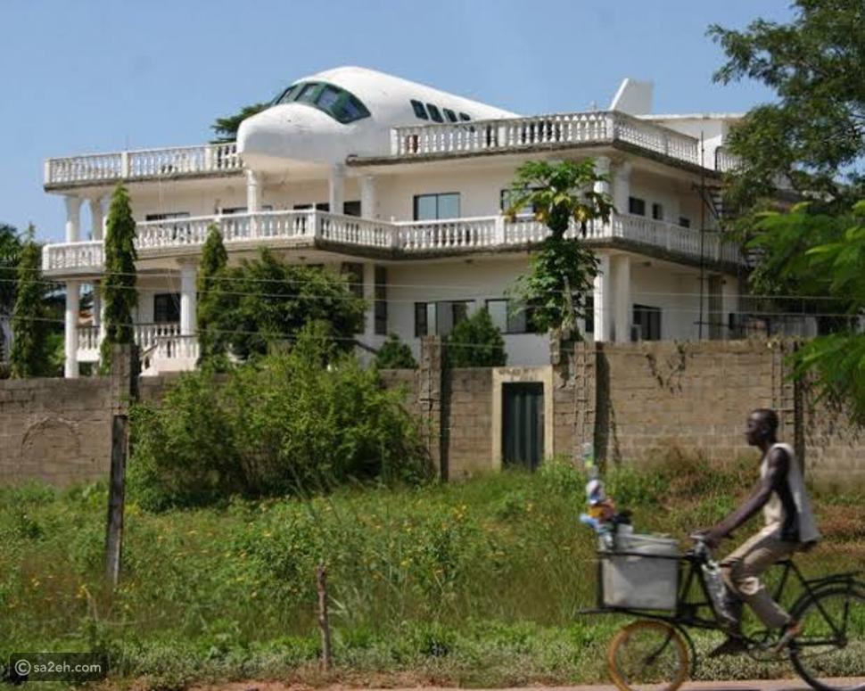 شاهد: منزل على شكل طائرة في أبوجا يوثق قصة عشق جمال وليزا