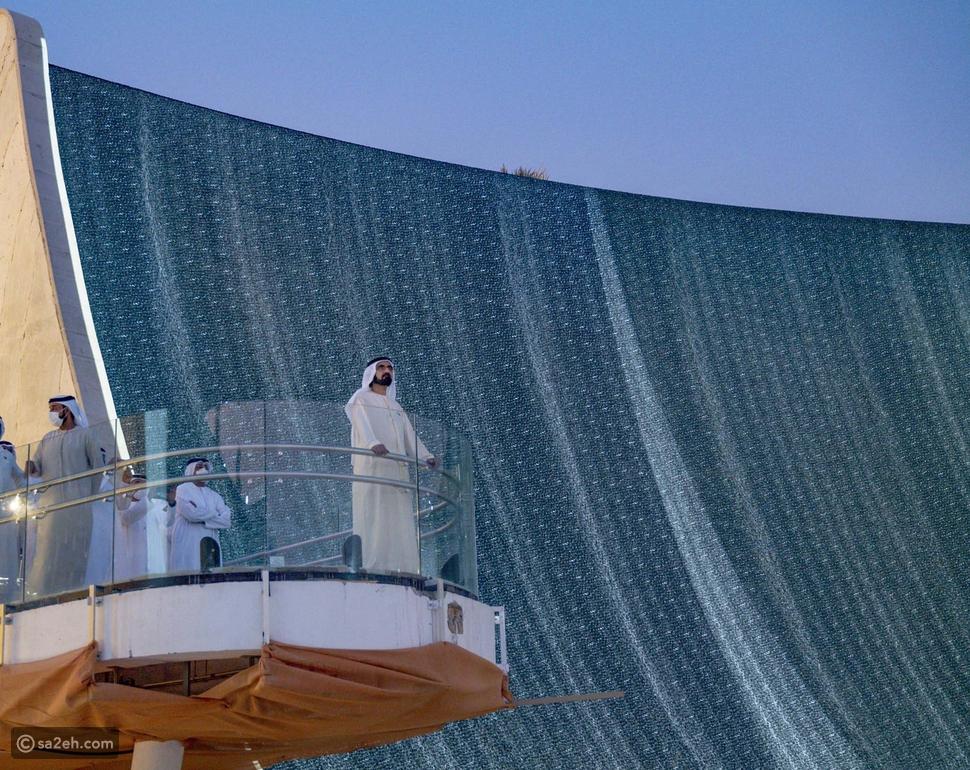 محمد بن راشد يشهد شلالات إكسبو أيقونة إكسبو 2020