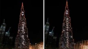 برج خليفة ونافورة دبي يحتفلان بقدوم شهر رمضان: شاهد العرض المذهل