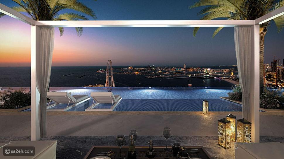 أعلى مسبح لا متناهي في العالم في مدينة دبي الإماراتية